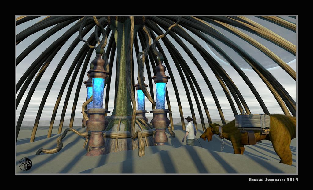On the desert planet Rana by arteandreas