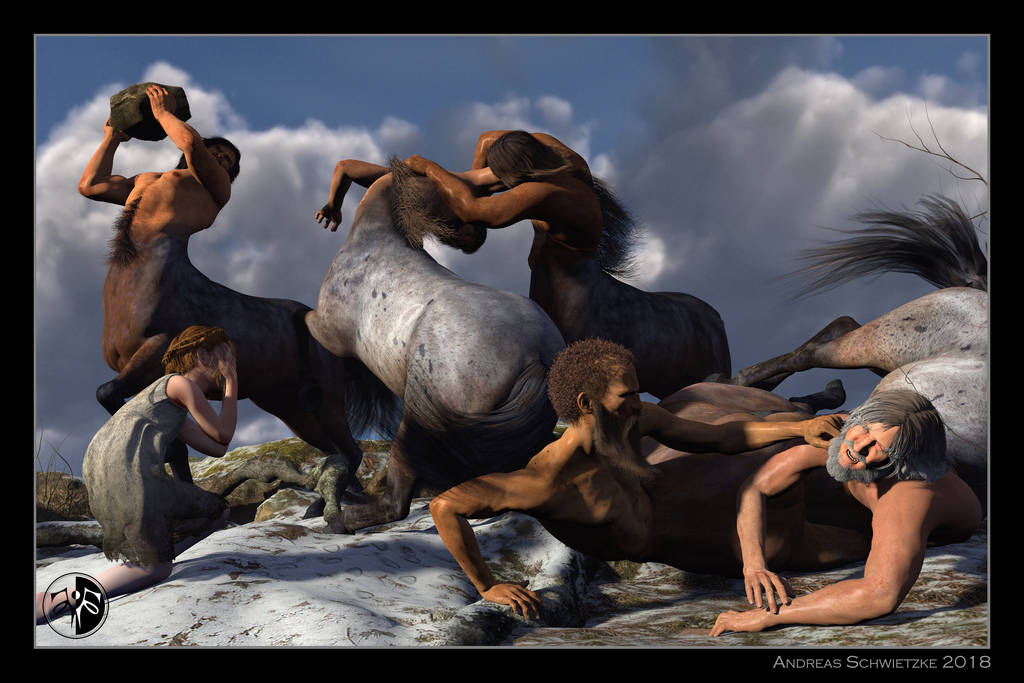 The fight of the centaurs by arteandreas
