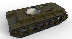 Chassis of KV tank - Left-Top View