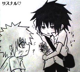 SasuNaru Chibi Sketch by Sumomo117