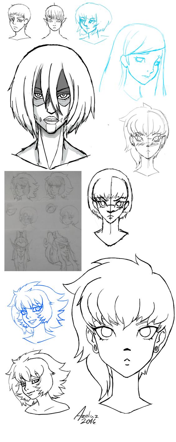 Study - head by AzelasFromHyrule