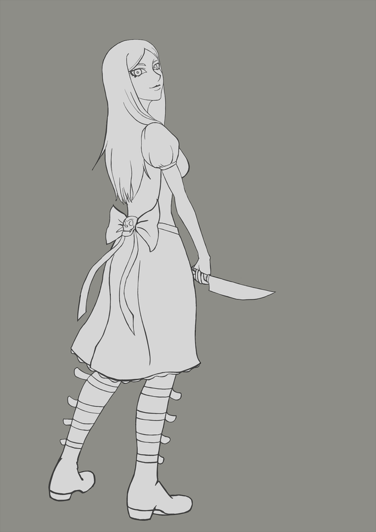Draw Everything Challenge June #1 - Alice Liddell by AzelasFromHyrule