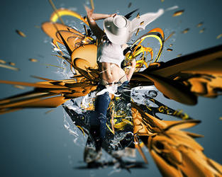 the_angel_abstract by rajasegar