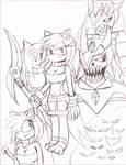 Kechi The Hedgehog -Conceptual Story Cover Drawn-