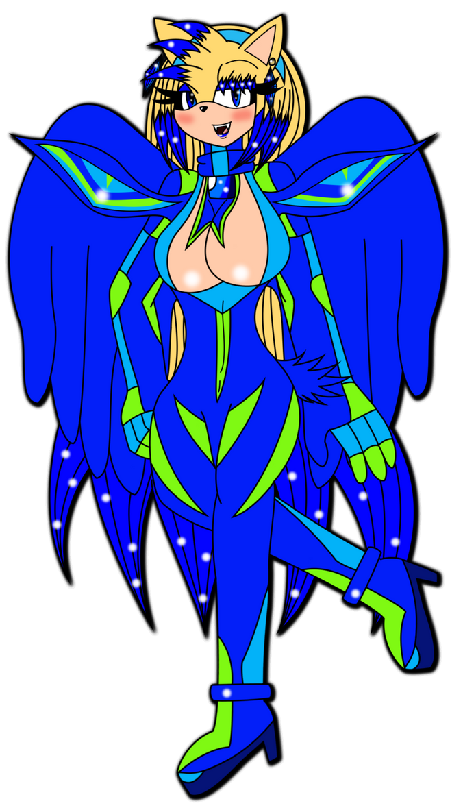 Blue Winged Warrior of Love and Protection by KechiTheHedgie