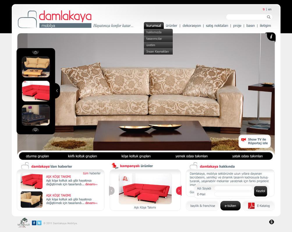 Damlakaya furniture web design by accelerator on deviantart for Furniture design websites