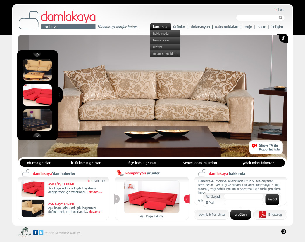 damlakaya furniture web design by accelerator on deviantart