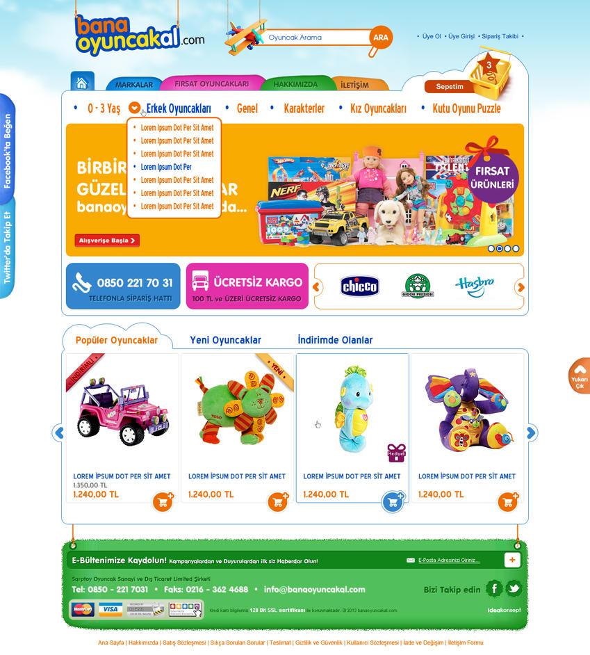 Bana Oyuncak Al web design by accelerator