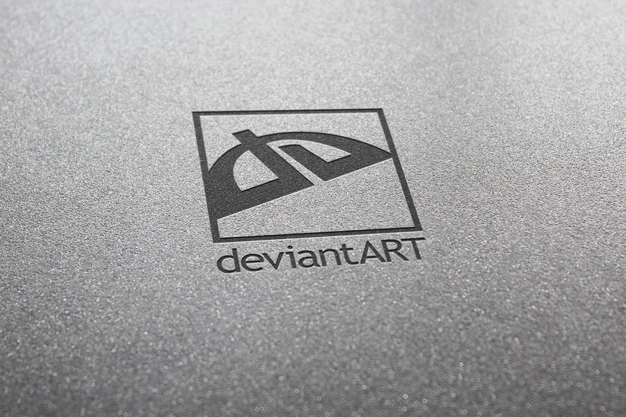 Realistic Logo Presentation - DeviantArt Logo