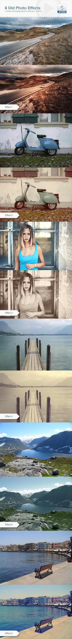 6 Old Photo Effects by h3design