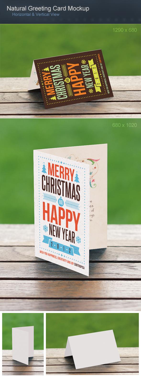 Natural Greeting Card Mockup by h3design