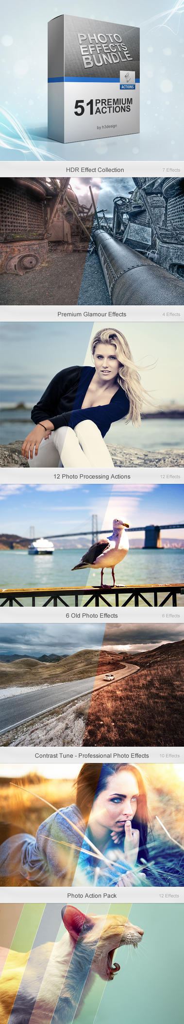Photo Effects Bundle by h3design