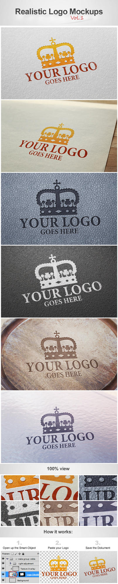 Realistic Logo Mockups Vol.1 by h3design