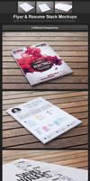 Flyer and Resume Stack Mockups by h3design