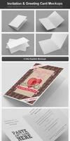 Invitation / Greeting Card Mockups by h3design