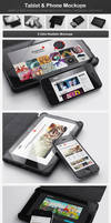 Tablet and Phone Mockups by h3design