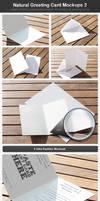 Natural Greeting Card Mockup 2 by h3design