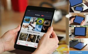 Realistic Tablet Mockups - Black Mini by h3design