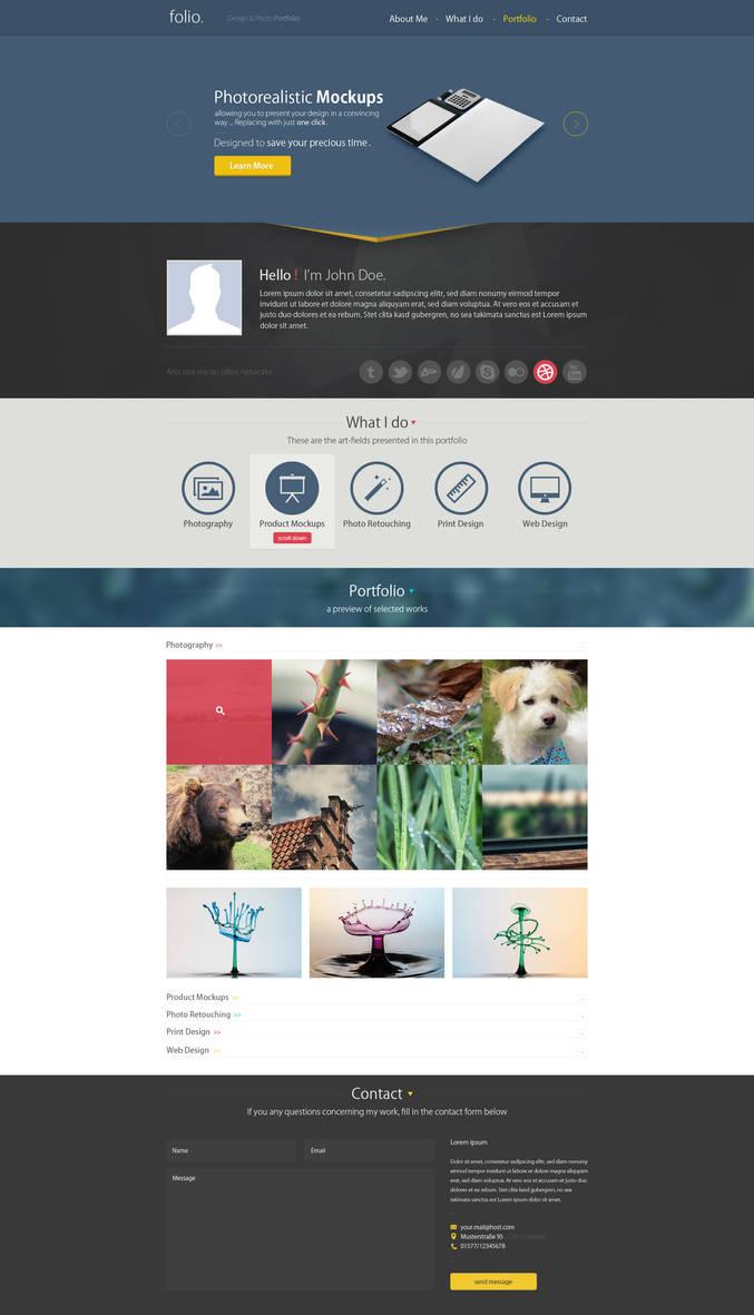 Single-Page Design/Photo Portfolio by h3design