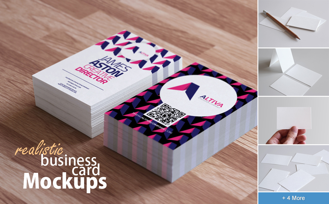 Realistic business card mockups by h3design on deviantart realistic business card mockups by h3design colourmoves