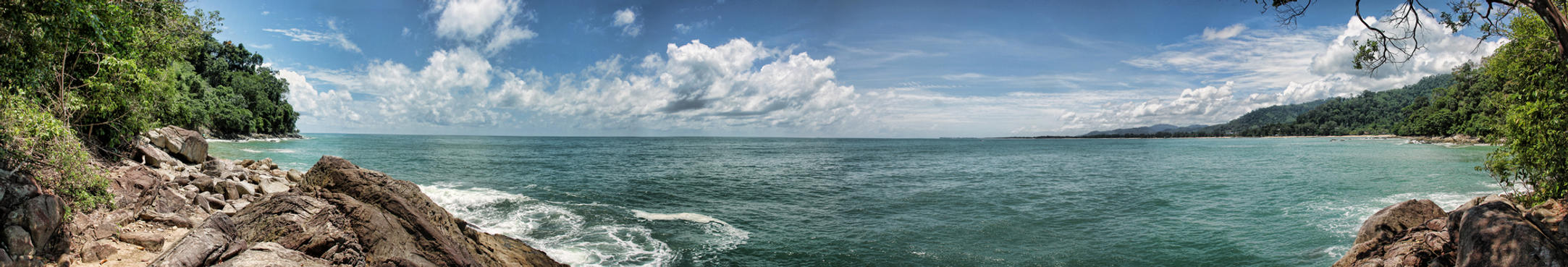 Panorama of Khao Lak Beach by h3design