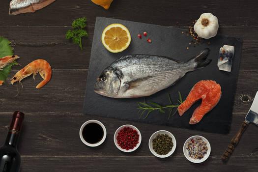 Fish Cooking Scene