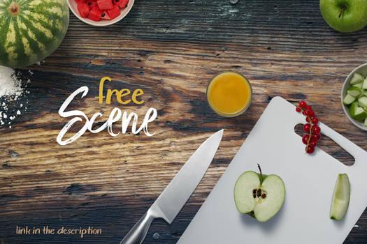 Free Kitchen Scene