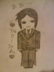 SEBASS-CHAN 1ST EVER DRAWING by sethiroth66