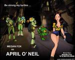 Megan Fox as April O'Neil - Ninja Turtles