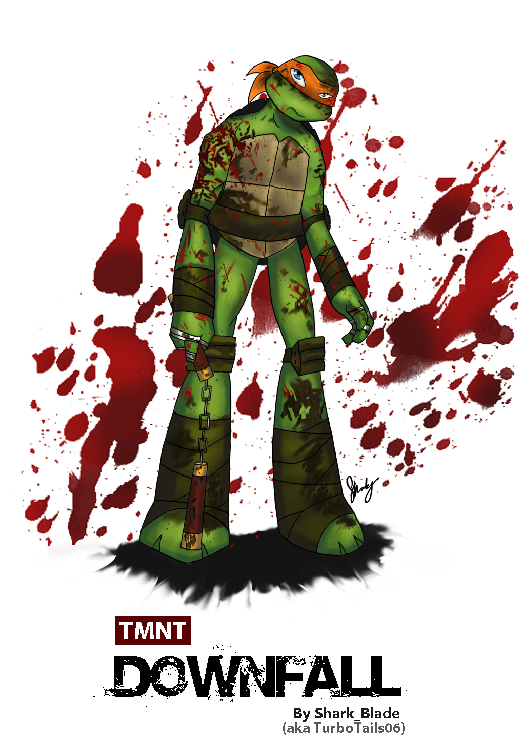 TMNT Downfall - Michelangelo by TurboTails06