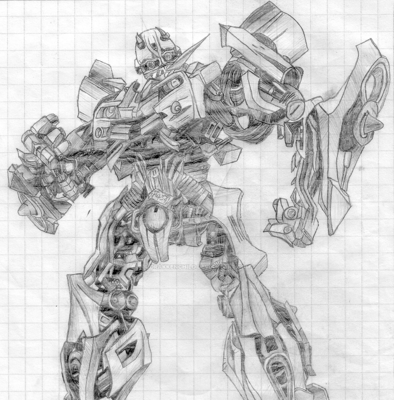 transformers bumblebee sketch by drakkenchild on deviantart