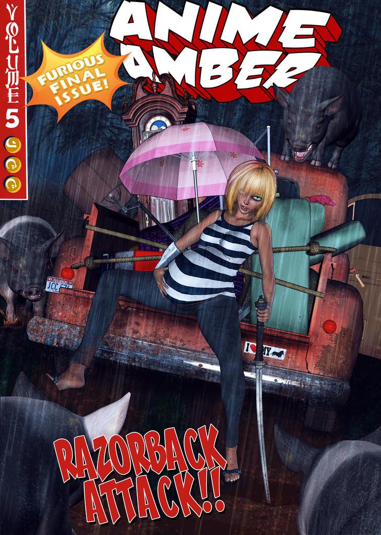 Anime Amber #5 : Razorback Attack by alsobroken