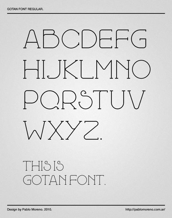 Gotan Font. by pgmoreno