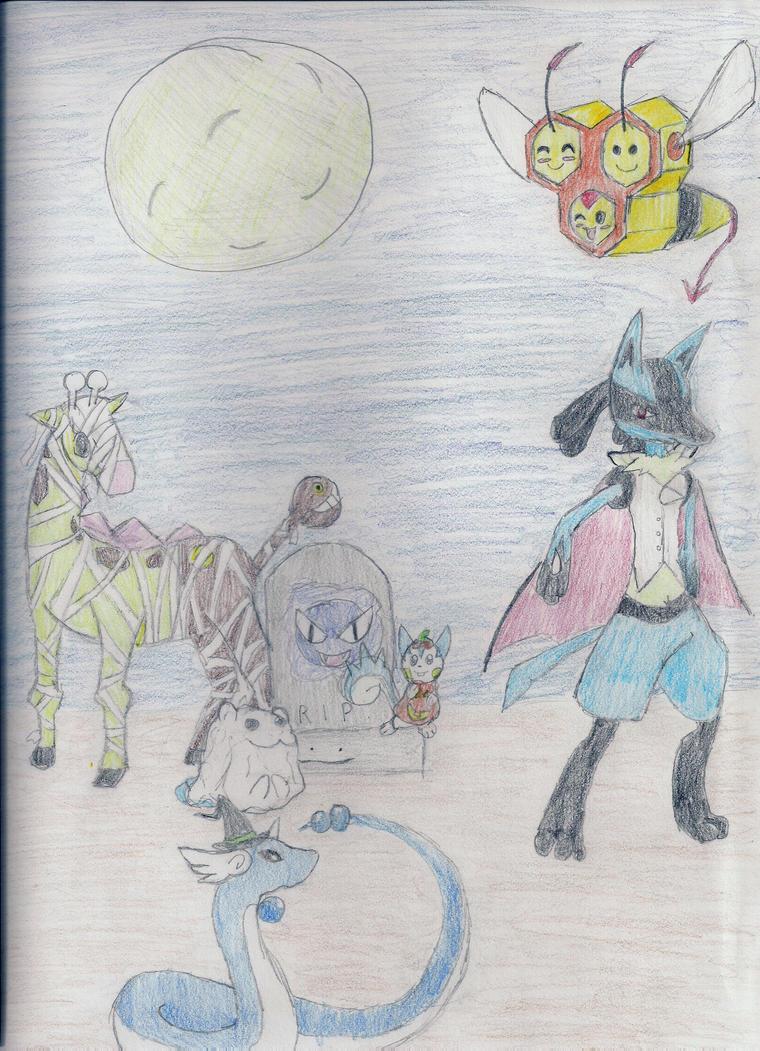 Pokemon Halloween by DemonNinjaTatsuko