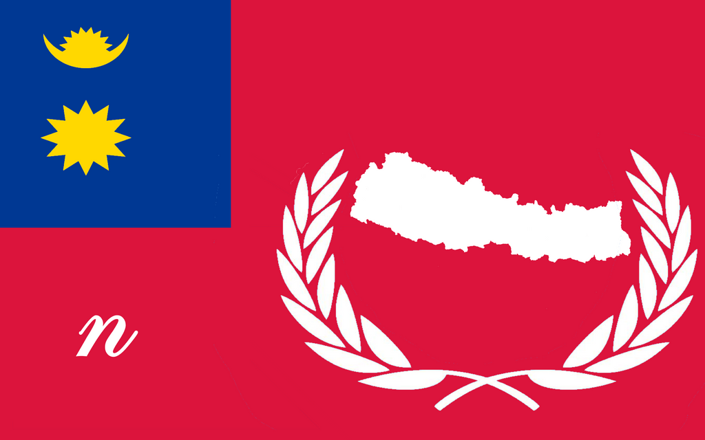 Flag Of Nepal ''remade'' by xXradioyellowBUNNYXx