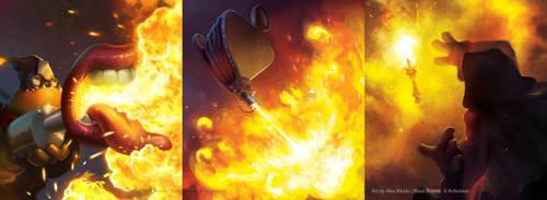 Skylanders Battlecast - Various Pieces by alexweeks