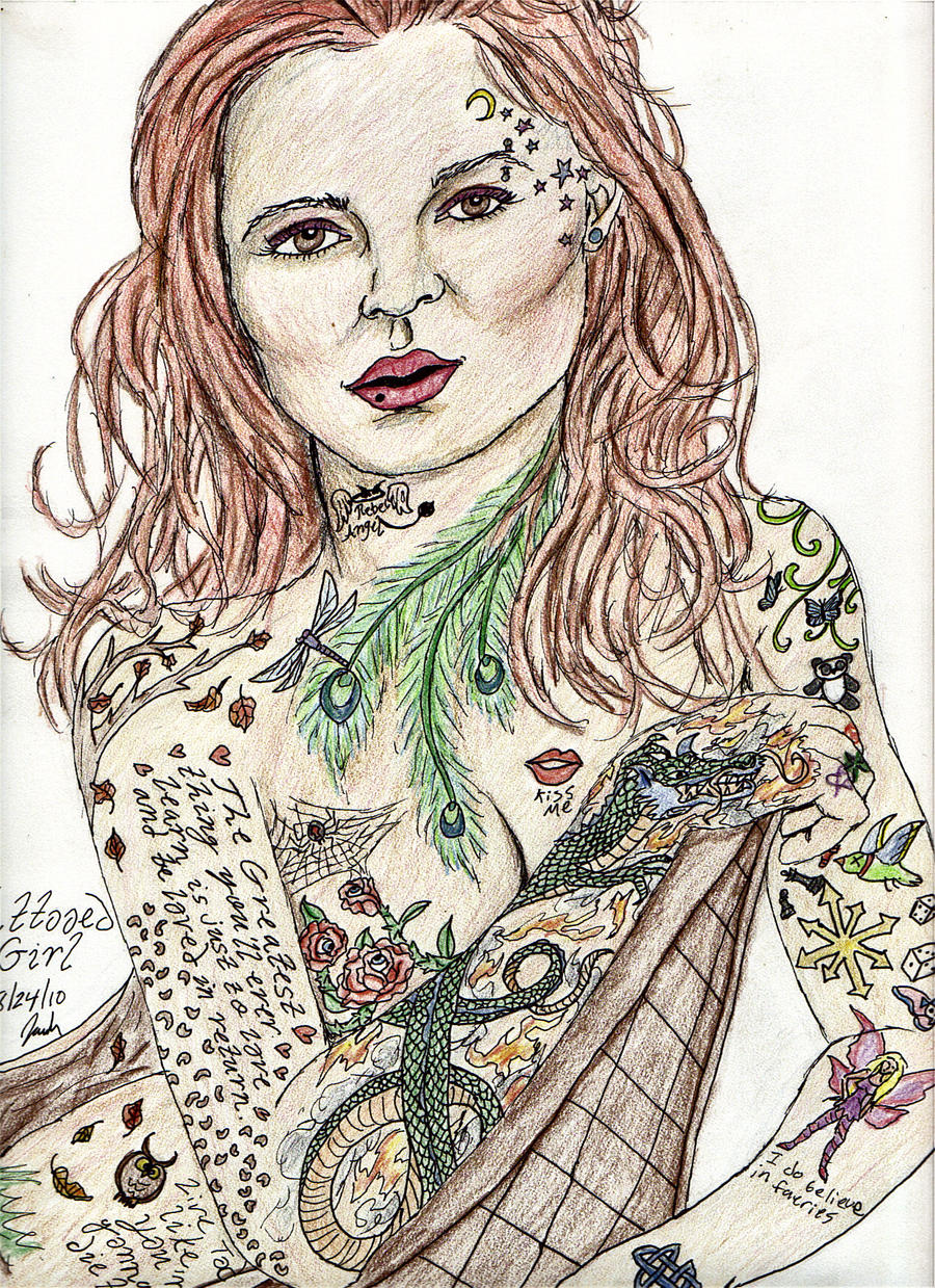 Tattooed Pinup Girl by