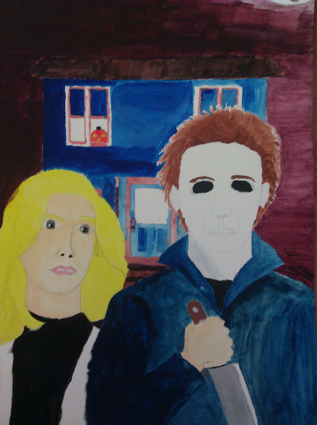 Michael Myers American Gothic Parody By Jeremiahtheprophet