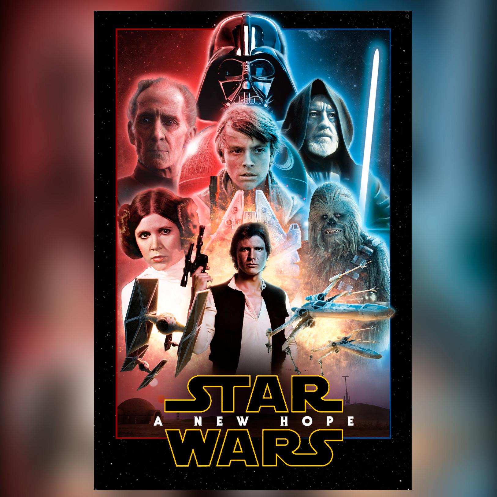Star Wars Episode Iv A New Hope Remake Poster By Guilleblo On Deviantart