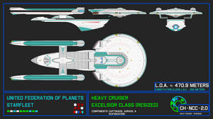 Heavy Cruiser - Excelsior Class (Resized - 470.9)