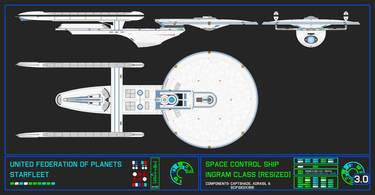 Space Control Ship - Ingram Class 3.0 (Resized)