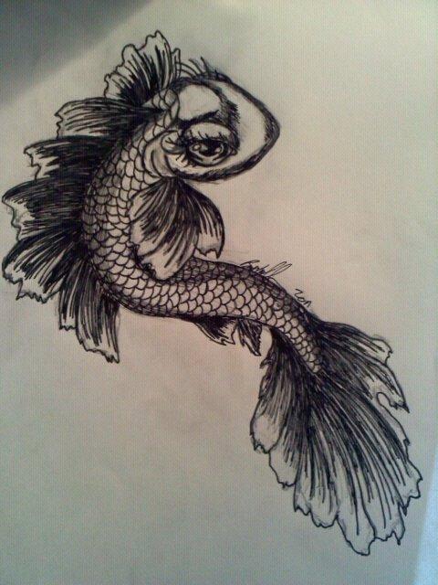 Koi fish female tattoo by wicknasty on deviantart for Female koi fish
