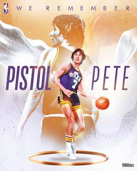 NBA - Pistol Pete Birthday Graphic