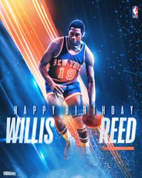 NBA - Willis Reed Birthday Graphic