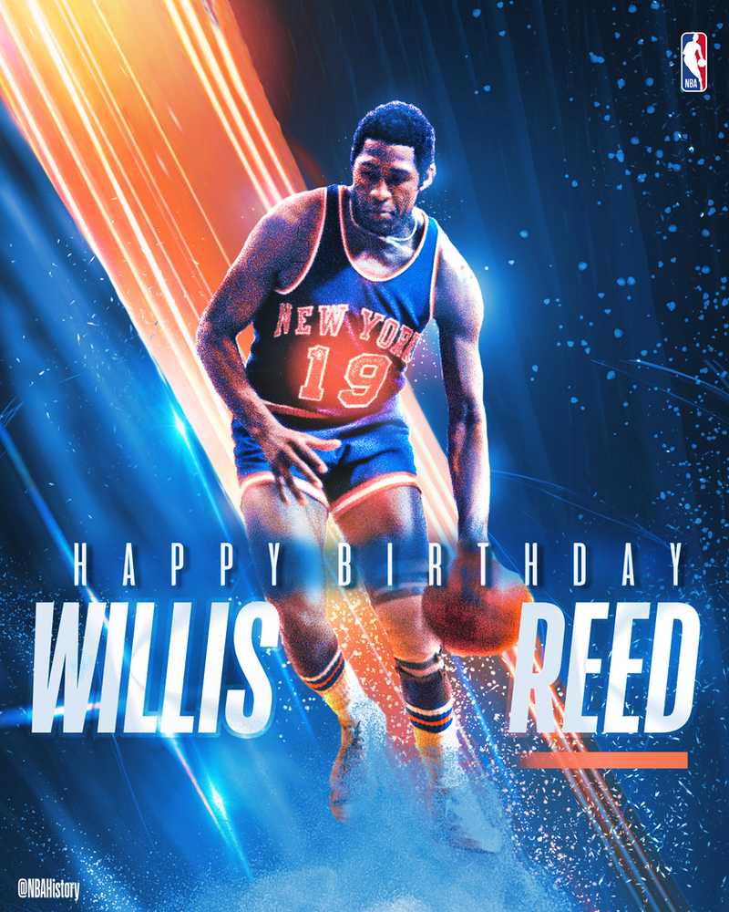NBA - Willis Reed Birthday Graphic by Che1ique
