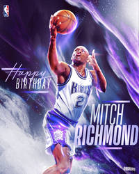 NBA - Mitch Richmond Birthday Graphic