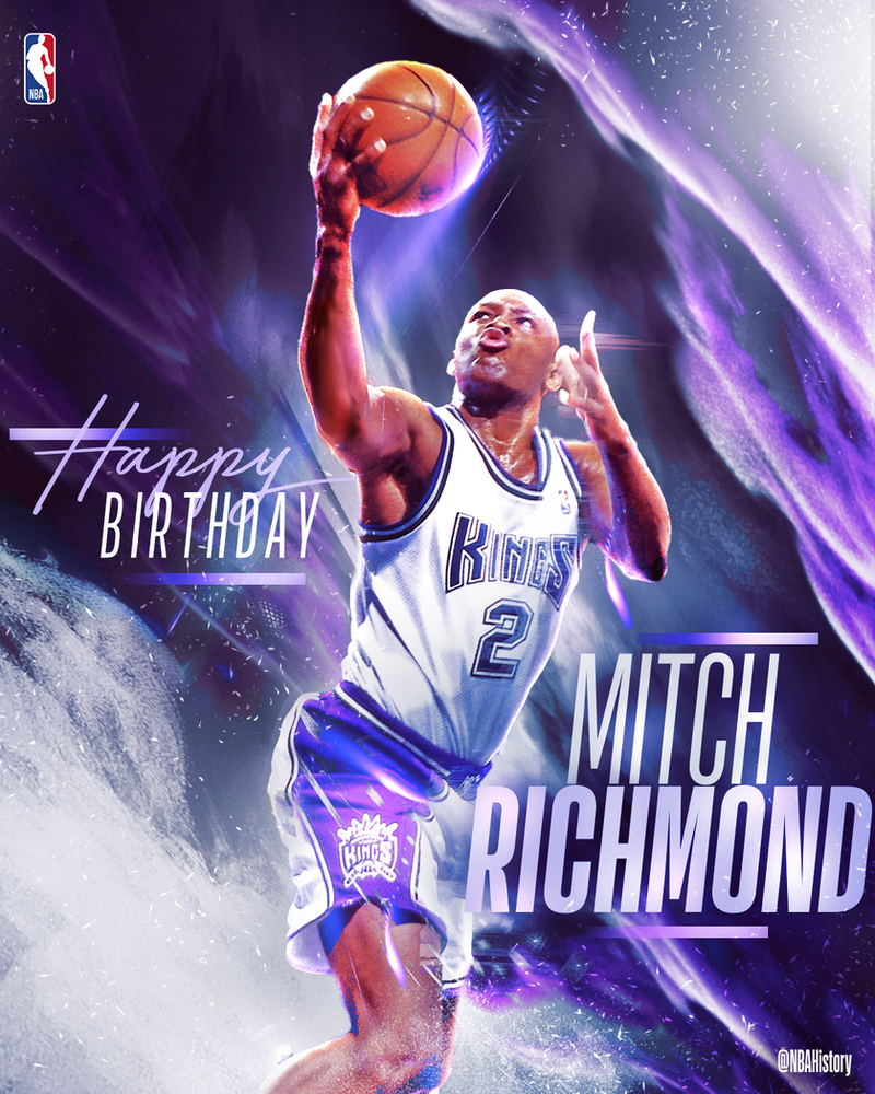 NBA - Mitch Richmond Birthday Graphic by Che1ique