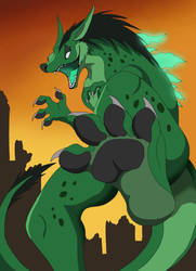 Kaiju stomp by VegaBone