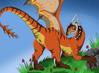 Commission: Dragoness Qyr by VegaBone