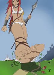 walking giantess